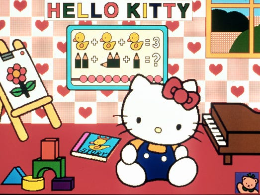 And all this time you thought hello kitty was a cat and for Bureau hello kitty
