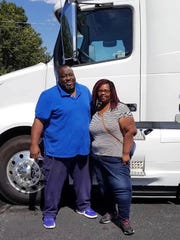 Major and Trectia Bridges of Silver Creek in Lawrence County have been driving an 18-wheeler across the country together since 2000. They enjoy the freedom the job offers, even though they are on the road about three weeks each month.