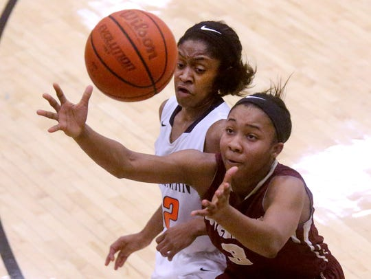 Blackman's Crystal Dangerfield (32) and Riverdale's