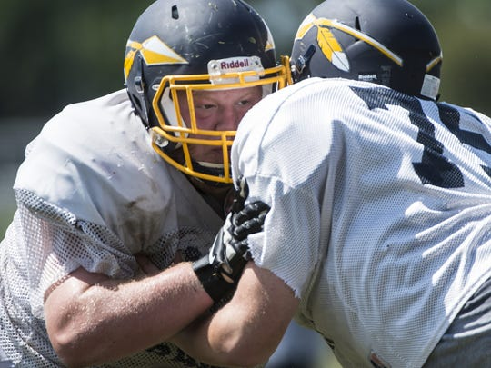 Senior Billy Petruska-Rhoades will lead the Elco offensive line in 2016.