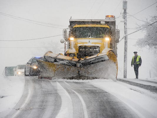 Snow in York County, Pa : 911 scanner and calls, traffic, plows