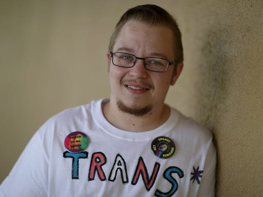 Nor Cal OUTreach Project Gender Quest Support Group Leader Aiden Mares spoke about his transition from female to male.