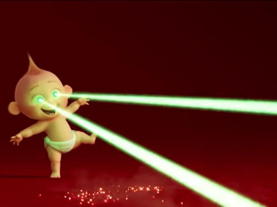 "An official Disney/Pixar teaser trailer for ""Incredibles 2"" shows Jack-Jack giggling as he experiments with his laser vision superpowers."