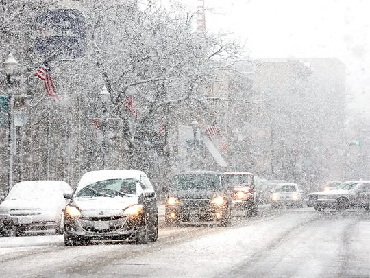 Heavy snow falls in Fond du Lac Wednesday, March 23,