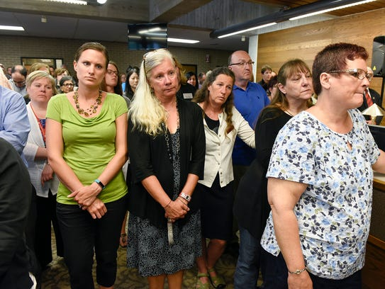 St. Cloud State University staff and faculty listen