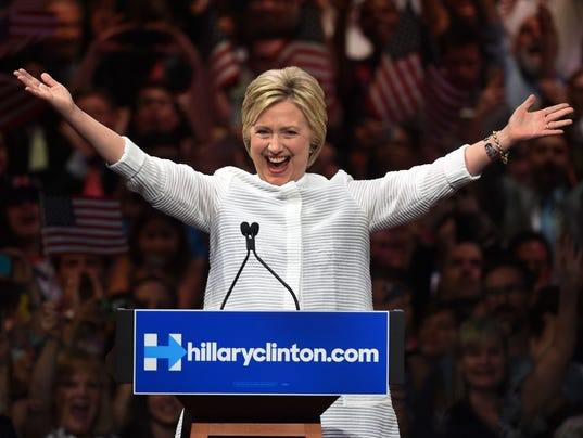 Clinton makes history