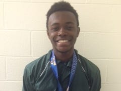 Spackenkill's Kabongo Barry won a NY State track and field title on Saturday.