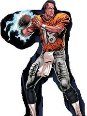 Peyton Manning looks more like himself as a comic character.