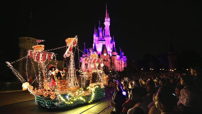 Brought to light in the early 1970s, the Main Street Electrical Parade helped establish a Disney Parks reputation for innovative, trend-setting live entertainment. As lights go down along the parade route, the parade brings a variety of beloved Disney animated feature films to life through three-dimensional floats covered with approximately half a million colorful LED twinkling lights.