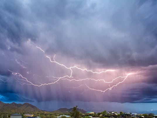 Lightning over Cave Creek