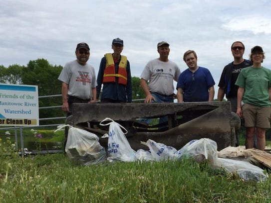 Volunteers collected 50 pounds of litter and debris,
