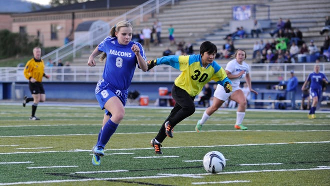 West Henderson's Samantha Holmes (8) has scored a school-record 118 career goals.
