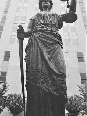 Augusta's Lady Justice statue not as old as believed.
