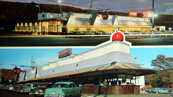 After thirty years in business, in 1960 the landmark Red Apple Rest was expanded to double its seating capacity.