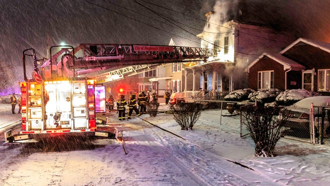 Firefighters responded to a structure fire on Mansion Street early Tuesday morning.