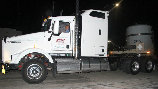 A CAST Specialty Transportation truck delivers the first shipment to WIPP since its 2014 closure in April. CAST was recently awarded a DOE contract for the next five years.
