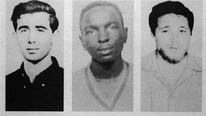 A poster distributed for the then-missing civil rights workers Andrew Goodman, James Chaney and Michael Schwerner in 1964. Their bodies eventually were found buried beneath an earthen dam.