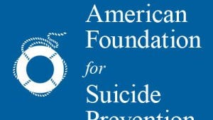 American Foundation for Suicide Prevention logo.