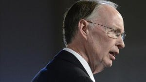 Gov. Robert Bentley delivers the State of the State address on Jan. 14, 2014. Bentley's office Friday announced that he had reached an agreement with lawmakers on the education budget. (Montgomery Advertiser, Mickey Welsh)