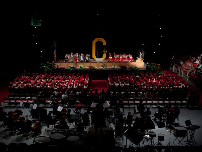 Cedar High holds their graduation ceremony for the senior on Thursday May 22, 2014 in the Southern Utah University Centrum Arena.