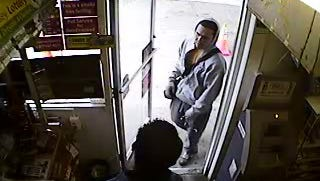 Police are searching for a man who robbed a Lukoil gas station Wednesday morning.