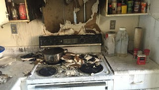 A kitchen fire at Hillcrest House in the Town of Poughkeepsie displaced residents temporarily Saturday night.