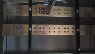 A photo of the copper buss bars taken from the Mariott Hotel at 340 E. 2nd St. Police said between Aug. 31 and Oct. 15, someone stole more than $12,000 worth of copper from the site.