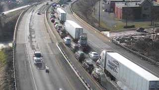 Traffic was backed up on Route 30 near Memory Lane for a crash.
