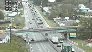Traffic shown on Interstate 83 north (right) near Exit 35 onto Lewisberry.