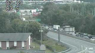 A crash on Interstate 83 North was reported on Thursday afternoon and causing traffic delays.