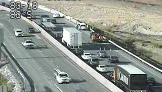 Traffic on I-83 south is backed up due to an accident at Exit 18 onto Mount Rose Avenue.