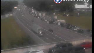 Traffic on eastbound Interstate 40 is at a stand still after a tractor trailer jackknifed just after 4 p.m. Thursday.