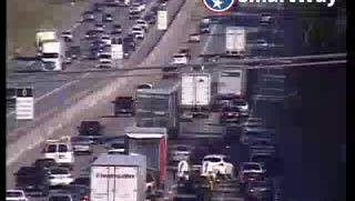A motor vehicle accident slows traffic on Interstate 24 east Thursday evening.
