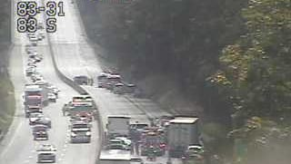 A crash on Interstate 83 in Newberry Township has closed down the southboudn lanes, according to York County 911.