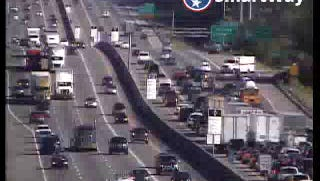 A car wreck has slowed traffic on Interstate 24 east Tuesday afternoon.