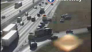 I-24 east wreck at Waldron Road in Rutherford County.