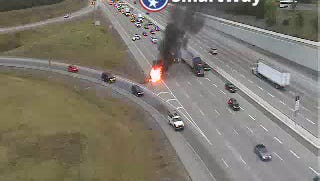 Cargo fire on I-65 S