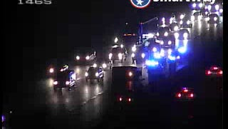 Traffic is backed up on Interstate 65 north Nov. 28, 2016.