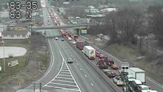 A mutli-vehicle accident on Interstate-83 north in Fairview Township has led to delays Tuesday morning.