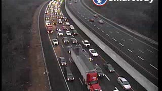 Traffic congested on I-65 N near the Old HIckory Boulevard exit due to a crash.