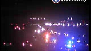 A crash slows traffic on Briley Parkway south near the Opryland Hotel exit Dec. 22, 2016.
