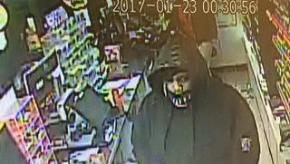 Suspect sought in store robbery
