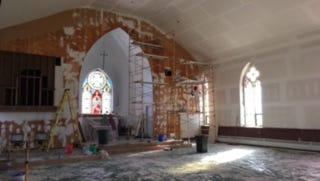 St. Paul Lutheran Church while undergoing renovation.
