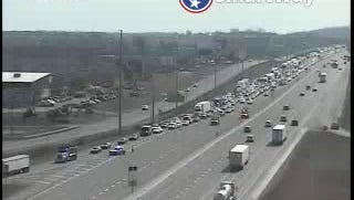 The view from a TDOT SmartWay camera at 10:20 a.m. Monday of traffic at Waldron Road.