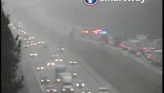 A flipped semi is blocking I-24 W near I-840 in Rutherford County.