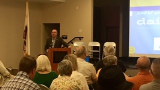 Desert Hot Springs Mayor Scott Matas addressed residents at one in a series of 2017 state of the city speeches.