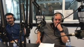Journal News reporters Jorge Fitz-gibbon, right, and Avram Billig talk about Tax Breaks for Businesses on WVOX Wednesday morning