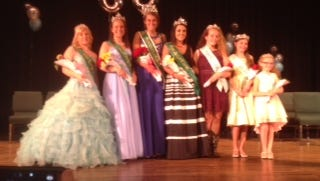 Wayne County Fair Queen winners pose at the June 10, 2017, competition.