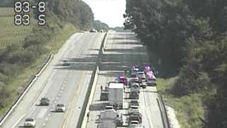 Police on scene of Interstate 83 near Glen Rock.