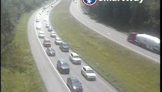 Traffic on Interstate 75 about 3 p.m. in Loudon County just past the Interstate 40/75 split.